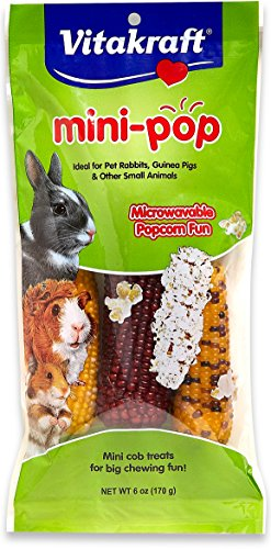(Vitakraft Mini Pop - Microwavable Mini Corn Cob Treats For Pet Rabbits, Guinea Pigs And Other Small Animals, 6.0 Ounce)