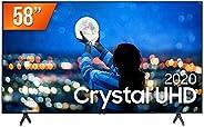 "Smart TV LED 58"" UHD 4K Samsung UN58TU7000GXZD, Processador Crystal 4K, HDR, Borda Infinita, Controle Rem"