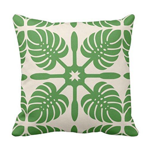 Emvency Throw Pillow Cover Hawaii Modern Hawaiian Quilt Contemporary Decorative Pillow Case Home Decor Square 16 x 16 Inch (Gold Hawaiian Quilt)