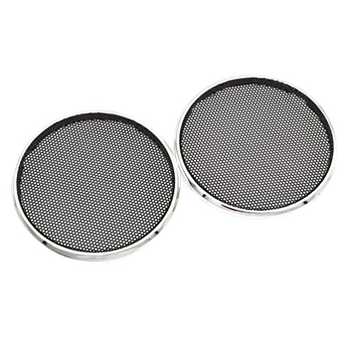 (Towashine 2Pcs Car Audio Speaker Grill Mesh Decorative SubWoofer Waffle Grill Protector Cover)