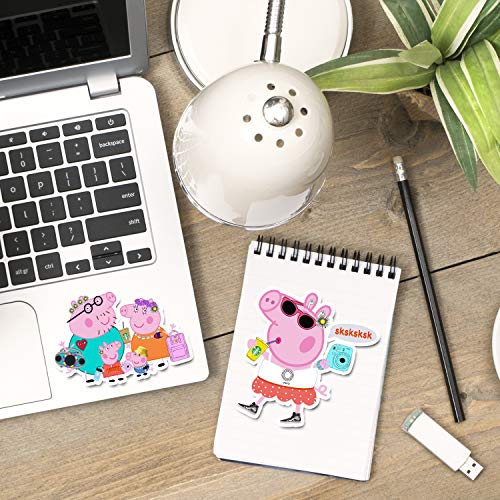 Stickers for Water Bottles Pink Pig Stickers Personalized Computers Laptop Skins Waterproof Vinyl Decals for Hydro Flask Bike Guitar iPad,Best Gift for Kids Girls 50 Pack