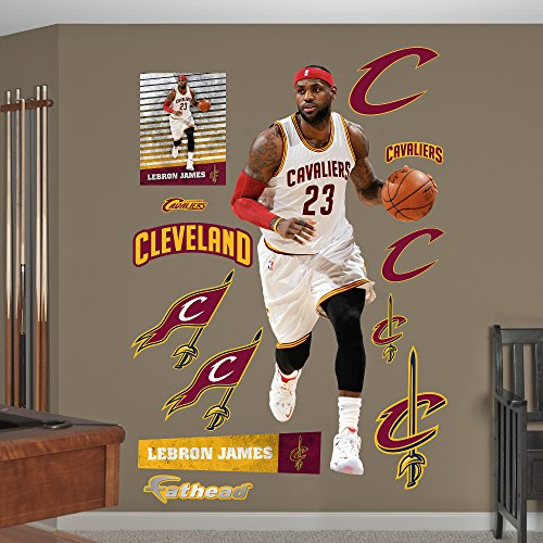 NBA Cleveland Cavaliers LeBron James Fathead Real Big Decals, 39