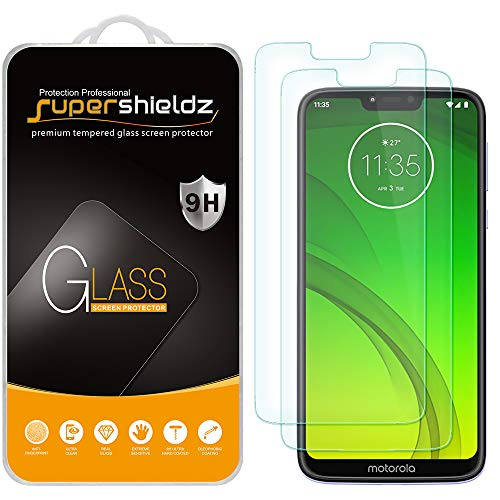 (2 Pack) Supershieldz for Motorola (Moto G7 Power) Tempered Glass Screen Protector, Anti Scratch, Bubble Free (Screen For Motorola Phone)