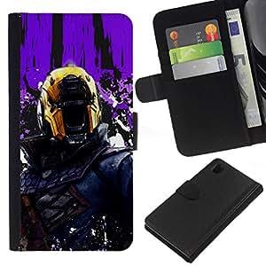 // PHONE CASE GIFT // Moda Estuche Funda de Cuero Billetera Tarjeta de crédito dinero bolsa Cubierta de proteccion Caso Sony Xperia Z1 L39 / Judge Dr3dd /