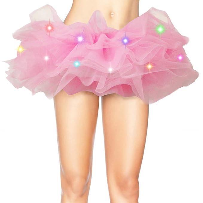 Falda de tutú neón con luces led clásica