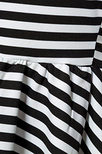 Angies Glamour Fashion - Camiseta sin mangas - para mujer negro/blanco