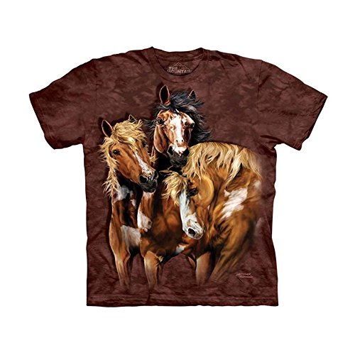 The Mountain Kids Find 8 Horses T-Shirt, X-Large, Brown/Red