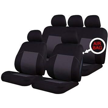RENAULT KANGOO   Leather Look MAYFAIR Black FRONT Van Seat Covers