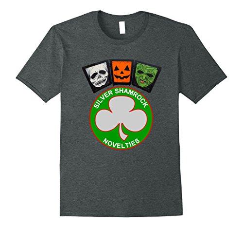 Mens Halloween III Silver Shamrock and Masks Large Dark (Halloween Iii Silver Shamrock)