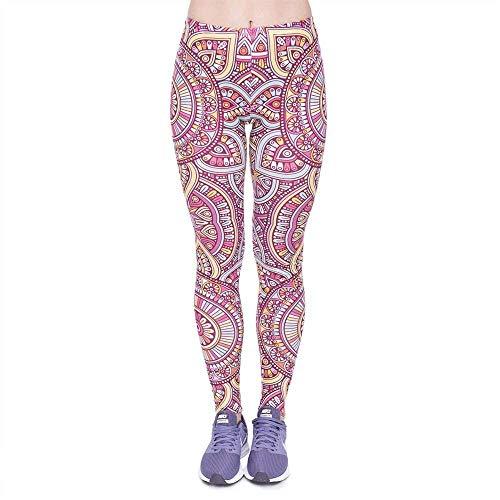 Altos Lga46014 Biran Legging Sun Pantalones Impresión Mandala Yoga De Elásticos Único Fitness Moda Cintura Mujer Alta wqB6aHw