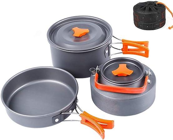CHUDAN Set de Utensilios de Cocina de Camping y Mini Estufa ...