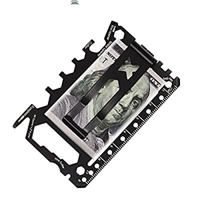 Credit Card Multitool - 46 in 1 - Multi Purpose Survival Pocket tool - Gear ToolCard Wallet Card and Money Clip Wallet Multitool - SS420 by CK