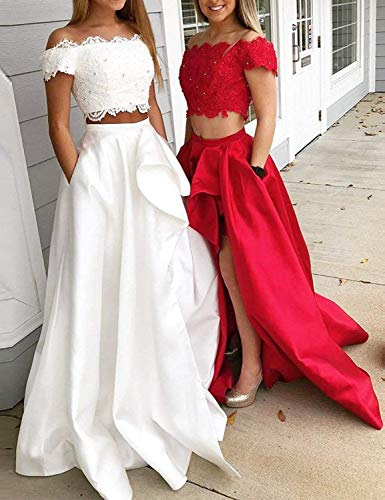 21caf3d6039 JoyVany Women Hi Lo Tulle Homecoming Dresses Short 2019 Formal Gowns JH122