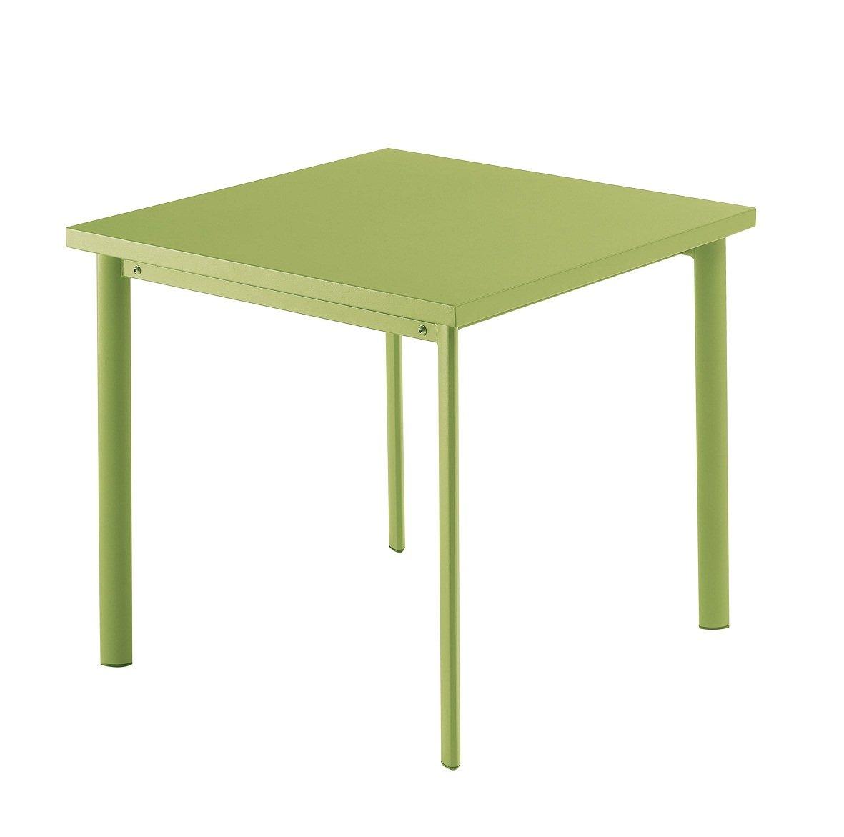 Emu 303056000 Star Tisch 305, 70 x 70 cm, pulverbeschichteter Stahl, grün