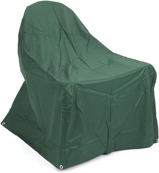 Trueshopping Adirondack - Funda Impermeable ultraresistente para sillón de jardín (poliéster y Respaldo de PVC, 800 x 1000 x 520/960 mm), Color Verde: Amazon.es: Jardín