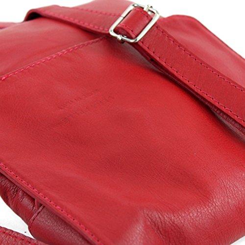 bag Red modamoda Shoulder ital ladies T33 Signal bag de Messenger leather vYrxOv