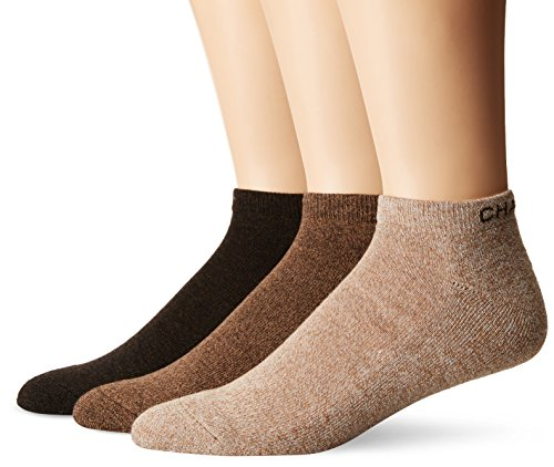 Chaps Men's Assorted Marl Low Cut Casual Socks (3 Pack), Khaki, Shoe Size 6-12/Sock Size 10-13 - Essential Low Cut