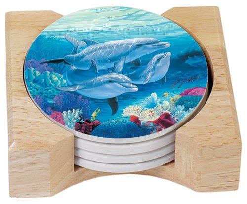 CounterArt Dolphin Lovers Absorbent Coasters