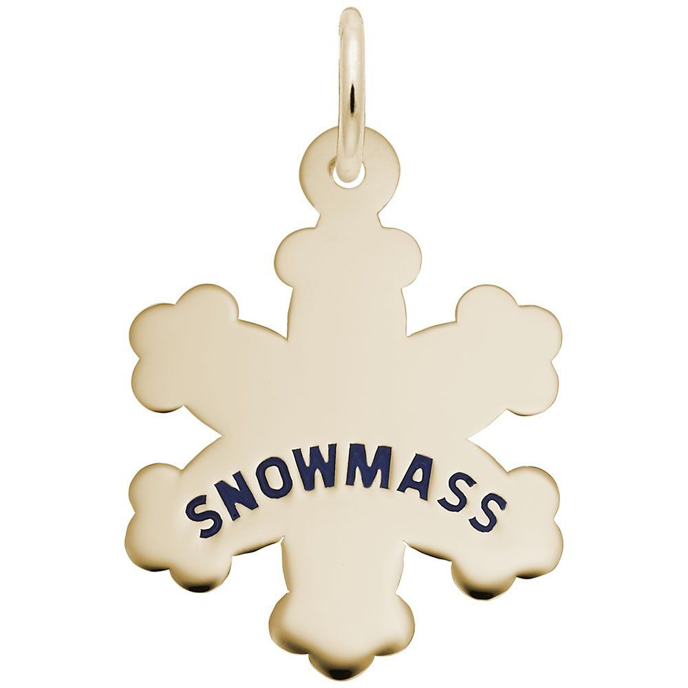 10k Yellow Gold Snowmass Snowflakes Charm Charms for Bracelets and Necklaces