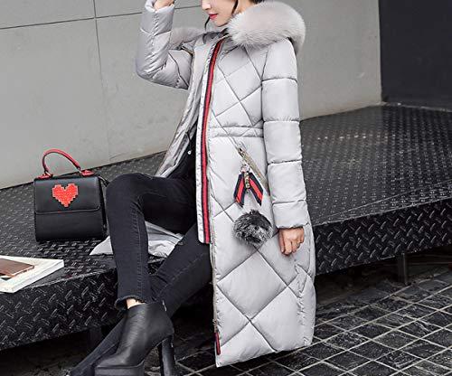 2018 Ropa Invierno De Americana Algodón Para Gris Mujer Abrigo Chaqueta Y Zll Americana Largo RgBIqn6wnx