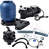 K&A Company Sand Filter Above Ground 10000GAL Swimming Pool Pump Pro New Pro 2450GPH 13''