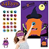 Halloween Party Games for Kids Pin The Eye on The Monster Game Halloween Party Favors and Games Halloween  Halloween Party Games Activities Halloween  Pin The Tail (Pin The Eye on The Monster)