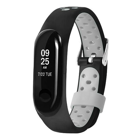 Pulsera para Xiaomi Mi Band 3 LANSKIRT Reemplazo Ventilar Correa Reloj Deportivo Soft para la muñeca Accesorios para Relojes Extensibles: Amazon.es: Relojes