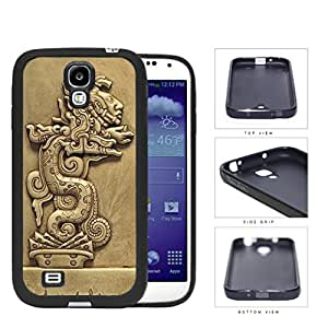 Beast Devours Man Mayan Clay Sculpture Rubber Silicone TPU Cell Phone Case Samsung Galaxy S4 SIV I9500