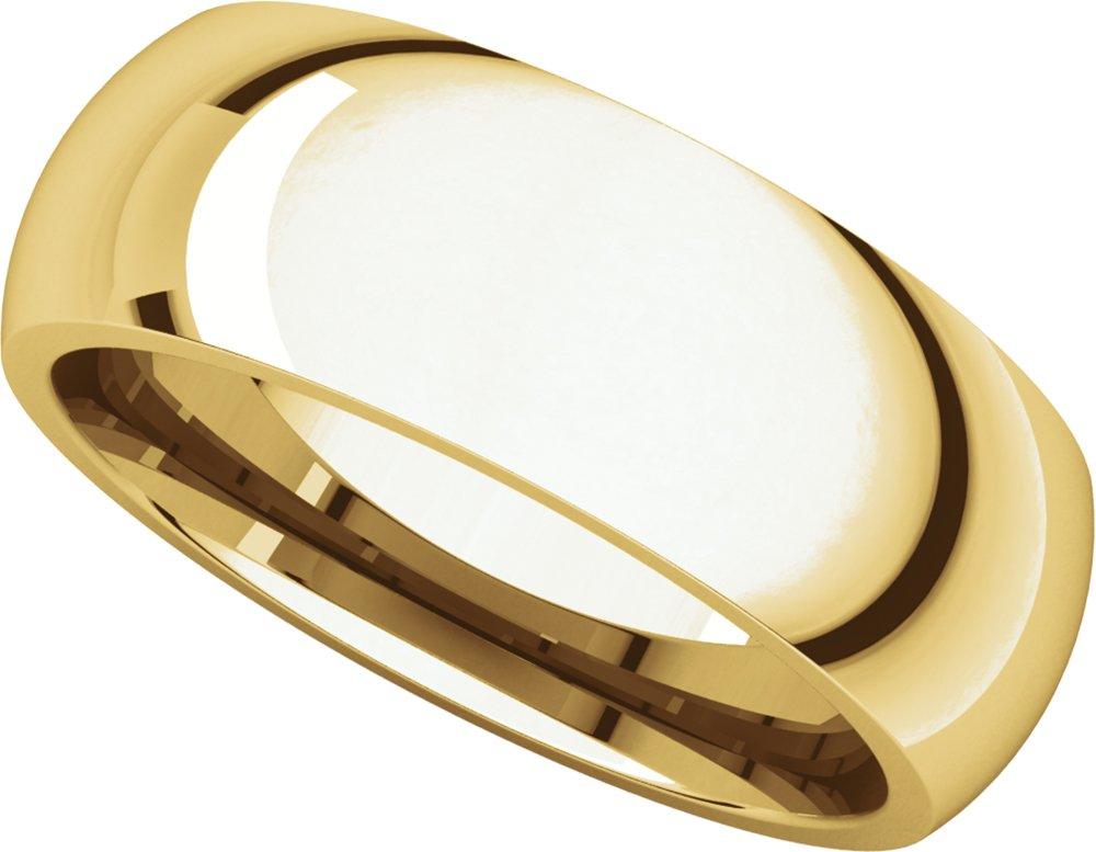 Mens 18K Yellow Gold, Comfort Fit Wedding Band 7MM (sz 12)