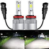 HSUN H11 H8 H9 LED Headlight Bulbs,Super Bright 8000 Lumens All-in-One Conversion Kit,Replace for Car Halogen Lights,Plug and Play,6500K White