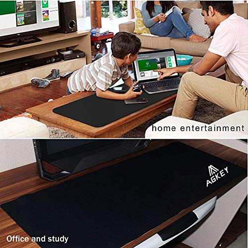 Extended Gaming Mouse Pad Non-Slip Large Computer Keyboard Mousepad Ultra Thick Soft Gaming Mouse Mat Wide Long Mouse Pat Durable Stitched Edges Waterproof for Both Gaming (30.7x11.8x0.12IN) Photo #7