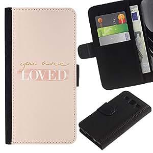 iBinBang / Flip Funda de Cuero Case Cover - Son Autoayuda Peach Motivación - Samsung Galaxy S3 III I9300