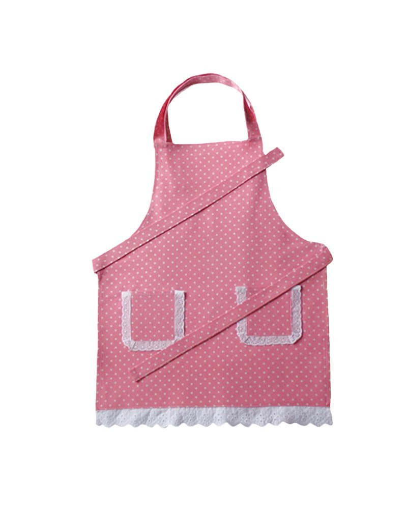White apron amazon.ca - Amazon Com Personalized Pink White Polka Dot Kids Baking Set With Apron By Dikor Kitchen Dining