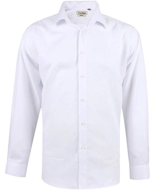 cb27e93e91bd7 Enzo Camisa Hombre Clásico Regular Fit Color Sólido con Mangas Largas de S  a XXL  Amazon.es  Ropa y accesorios