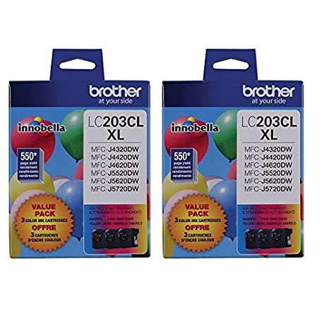 Brother LC203-3PKS Combo Pack Ink High Yield (3x 550 Yield)(C/M/Y) by Brother 4328398969