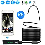 Wireless Endoscope Inspection Camera Borescope IP68 Waterproof 1200P 2 Million High-Definition Pixels WiFi Borescope for iPhone, Android, iOS Smartphone, Tablet, PC.