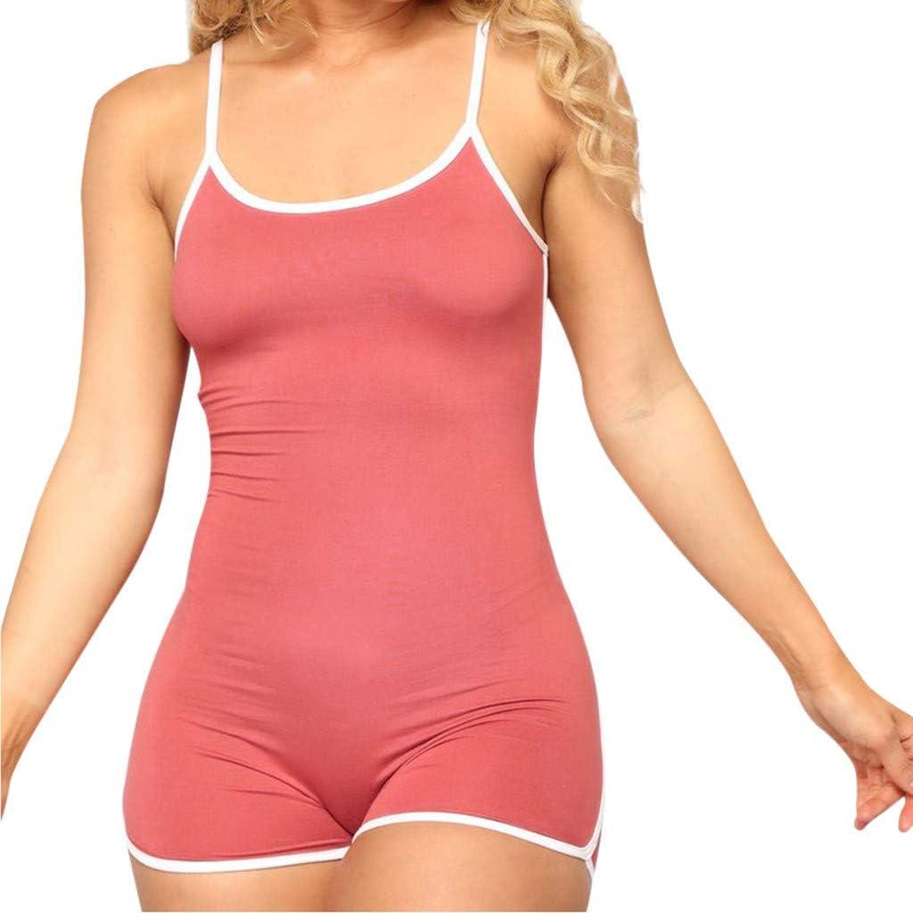 Cardigo Sexy Womens Summer Slim Fit Solid Sleeveless Straps Playsuit Jumpsuit Romper