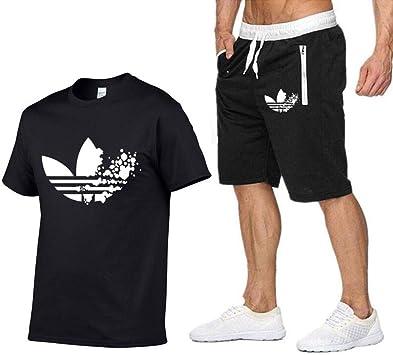RECNHBSXD Marca de Verano Camisetas + Pantalones Cortos Traje ...