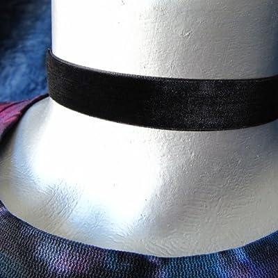 "Twilight's Fancy 5/8"" 16mm Plain Velvet Ribbon Choker Necklace (22 Colors, 5 Adjustable Sizes)"