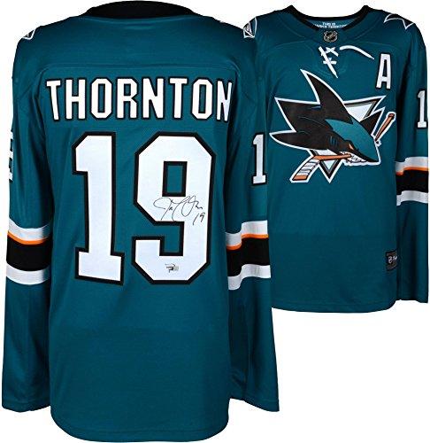 Joe Thornton San Jose Sharks Autographed Teal Fanatics Breakaway Jersey - Fanatics Authentic Certified