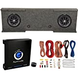 Kicker 12-inch 600W Subwoofers (2) + GMC Dual Sub Box + 1500W Amplifier + Wiring Kit