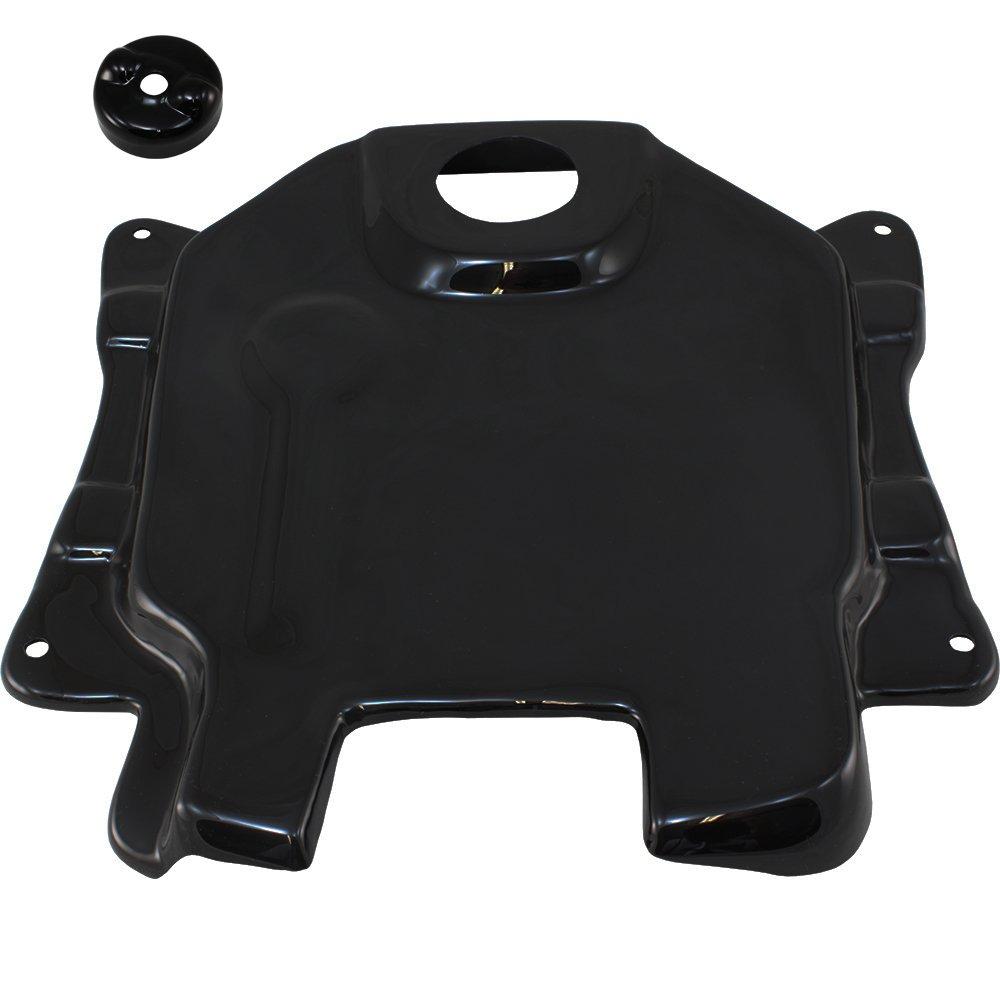 2003-2016 Honda Ruckus Zoomer Black Plastic Gas Tank Cover and Fuel Cap Cover