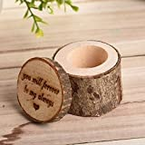 Dds5391 New Retro Rustic Wedding Lettering Rings Bearer Box Case Holder Jewelry Display