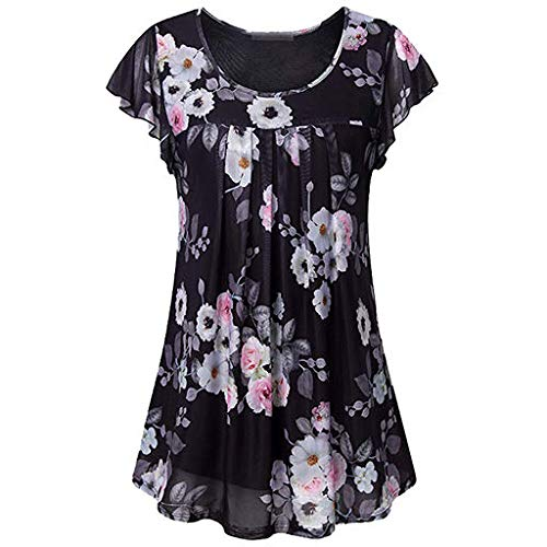 (The Best Easter Gift!!!Women's T-Shirt Aries Esther Women's Tunic Top Casual T Shirt for Leggings Short Sleeve)
