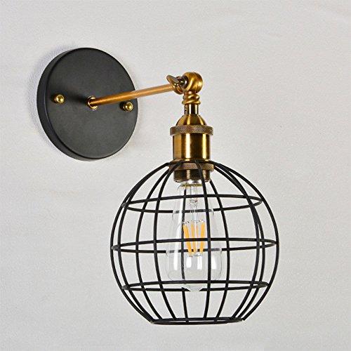 Lantu Wall Spotlight Modern Vintage Industrial Loft Iron Metal Antique Innovative Single Head Lamp Small