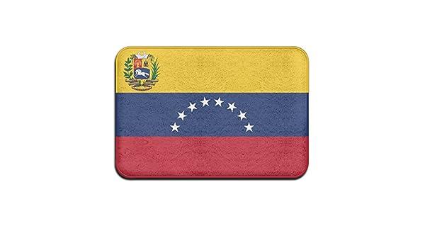 DIYABCD Bandera de Venezuela Doormats Antideslizante para casa jardín Puerta Alfombra Felpudo Piso Almohadillas: Amazon.es: Jardín