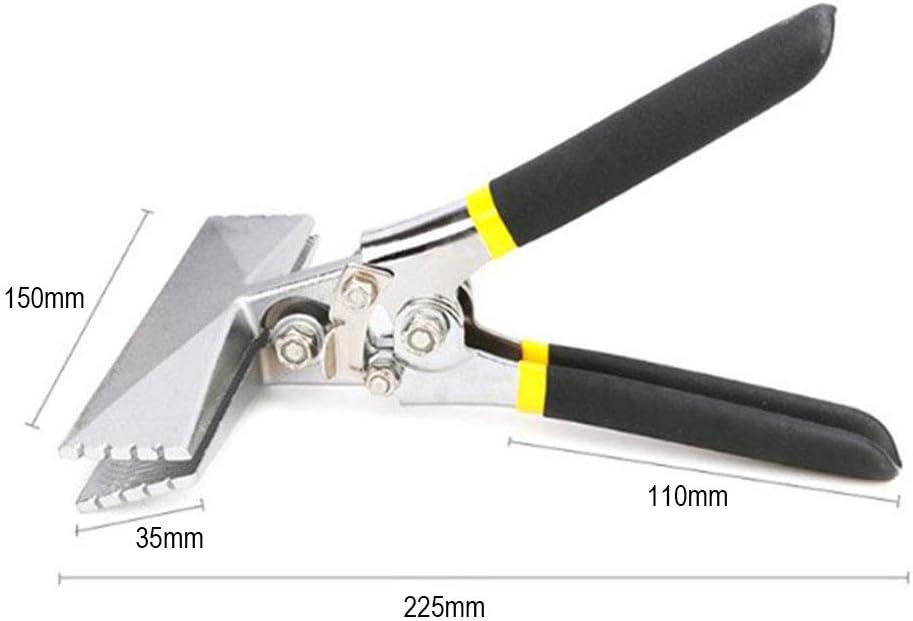 Alicates para doblar l/áminas 3 pulgadas alicates para coser Herramienta de doblado manual de dobladora multifuncional recta recta con mango antideslizante