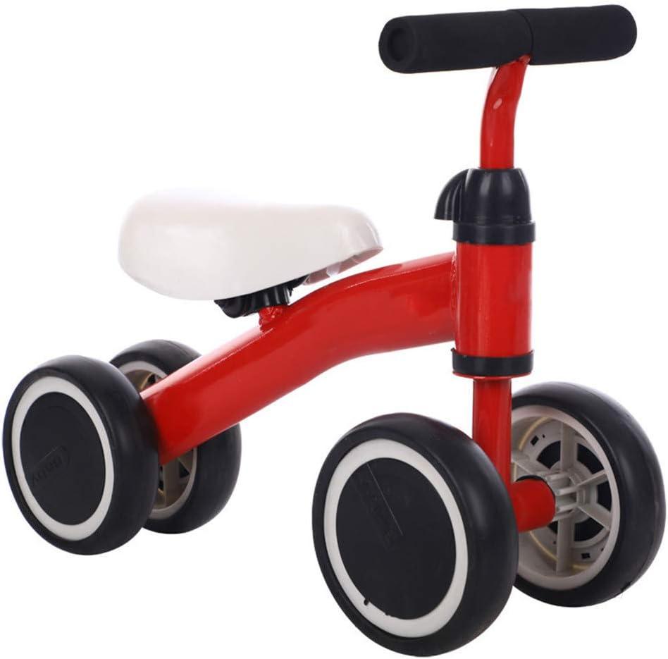 Framy Bebé Bicicleta De Equilibrio Niños Juguetes Walker Ride on Toy Aprender A Caminar De Niños Hijos De Bicicletas Primera Bicicleta De 1-2 Años De Edad Chicos Niñas,Rojo