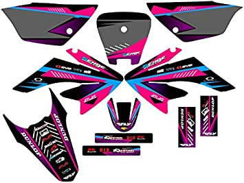 Senge Graphics 2004-2010 Honda CRF 80//100 Surge Black Graphics kit