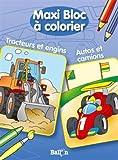 MAXI BLOC A COLORIER AUTOS ET CAMIONS / TRACTEURS ET ENGINS